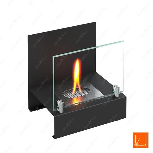 Настольный биокамин SteelHeat ERIKA черный