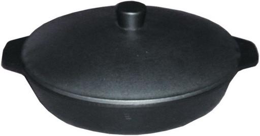Сковорода с алюминиевой крышкой 280/60-2-КАлД