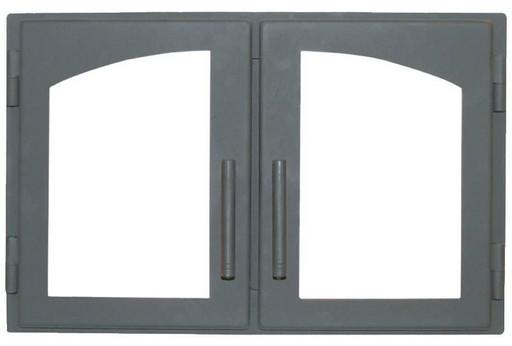 Дверца каминная ДВ544-2А стальная