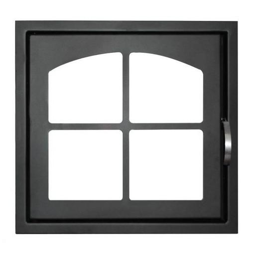 Дверца каминная ДК555-1К стальная