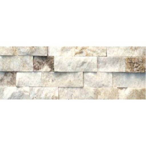 Камень Кварцит Серебристо-белый