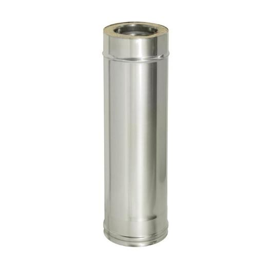 Труба прямая L1000 с изоляцией (0,8 мм), Дымок