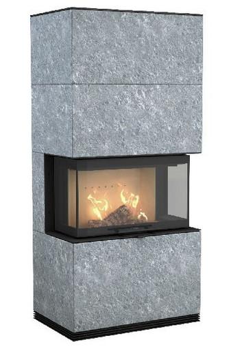 Печь-камин Contura 51T: отделка талькомагнезит