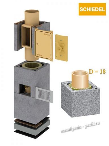 Schiedel Uni D 180 без вент канала