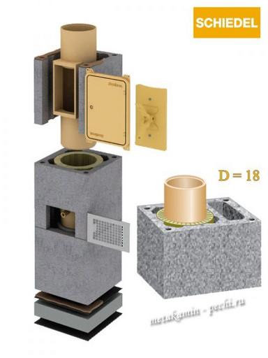 Schiedel Uni D 180 L с вент каналом