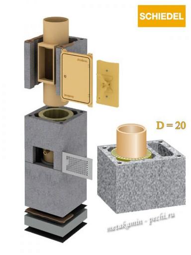 Schiedel Uni D 200 L с вент каналом