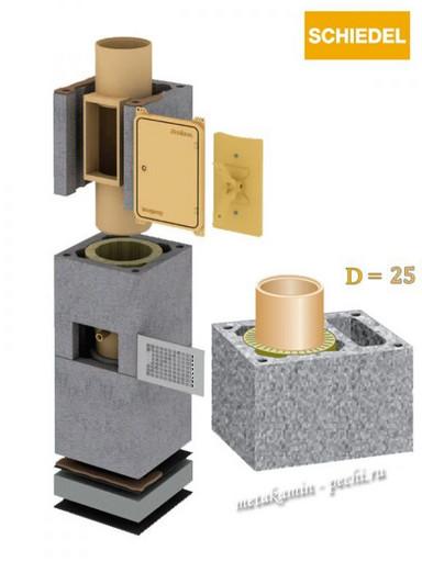 Schiedel Uni D 250 L с вент каналом