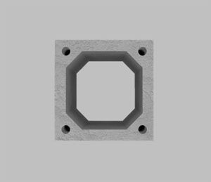 Блок из легкого бетона без вентиляционного канала