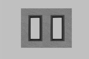 Блок из легкого бетона для вентиляционных каналов