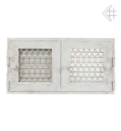 Ретро белая с двумя дверками открывающаяся 17х17