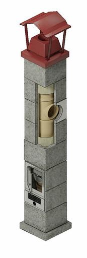 Одноходовая шамотная система D=180 мм 6 пм