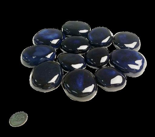Декоративные керамические камни Космос (синие) 14 шт (ZeFire)
