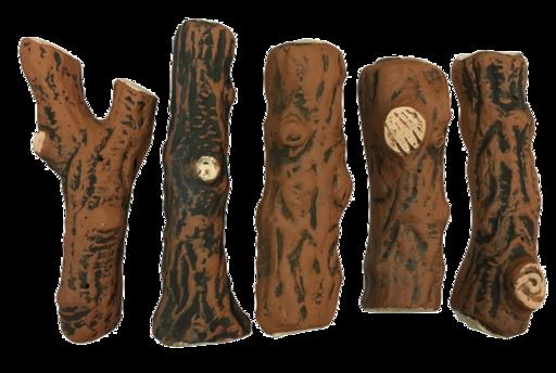 Керамические дрова темные (ZeFire) - 5 шт