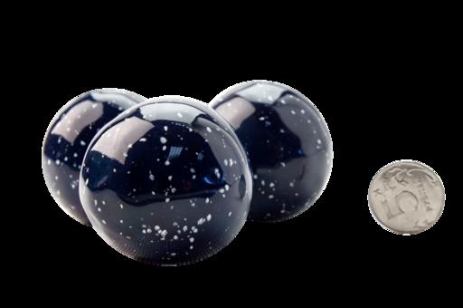 Декоративные керамические камни-шары космос синие 14 шт (ZeFire)
