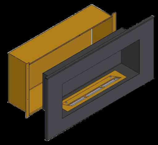 Теплоизоляционный корпус для встраивания в мебель для очага 2000 мм (ZeFire)