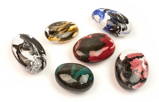 Декоративные керамические камни цветные - 14 шт (ZeFire)