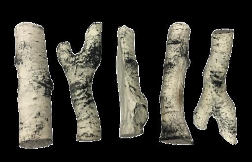 Керамические дрова береза (ZeFire) - 5 шт