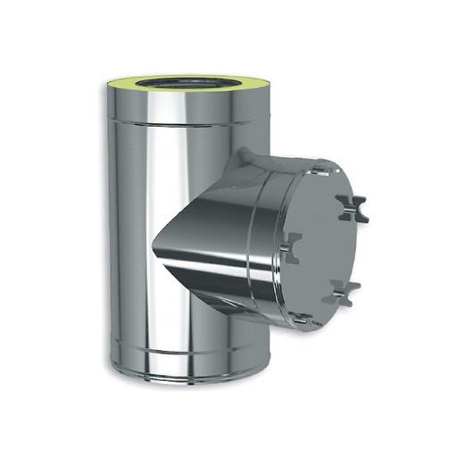 Клапан тройник 90˚ сэндвич Craft Aisi 316 0,5 мм