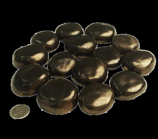 Декоративные керамические камни красное золото 14 шт (ZeFire)
