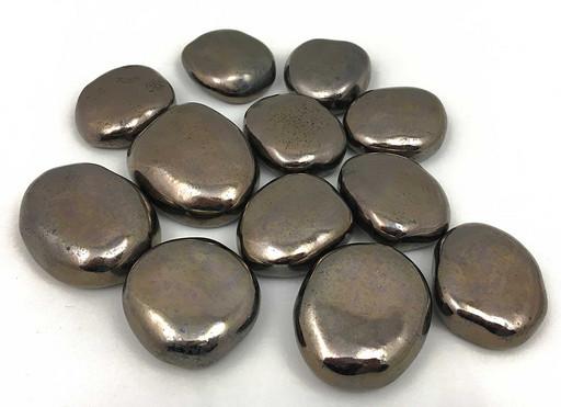 Декоративные керамические камни золотые 14 шт (ZeFire)