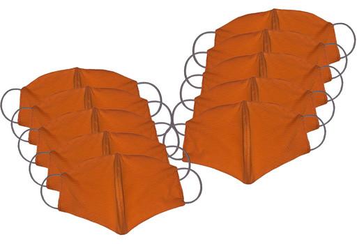Двухслойные оранжевые маски (набор из 10 штук)