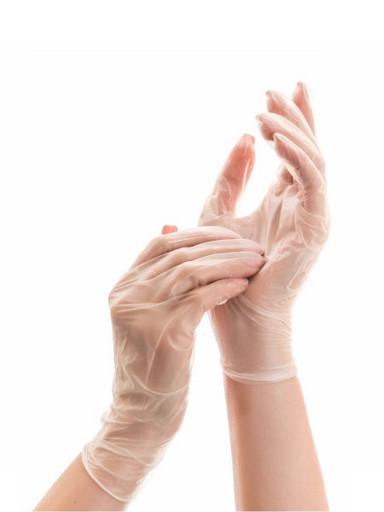 Перчатки виниловые прозрачные одноразовые 100 шт. (50 пар)