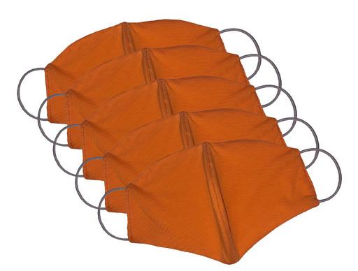 Двухслойные оранжевые маски (набор из 5 штук)