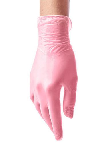 Перчатки виниловые розовые одноразовые 100 шт. (50 пар)