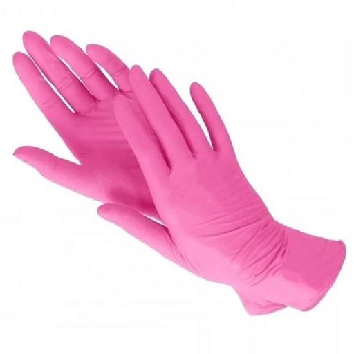 Набор нитриловых розовых перчаток (от 10 шт.)