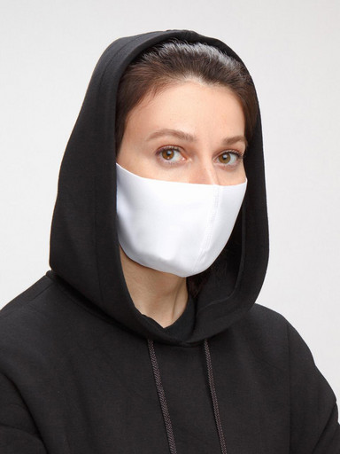 Белая маска неопреновая