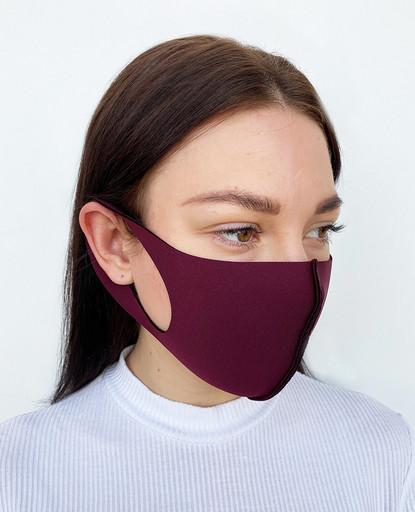 Бордовая неопреновая маска
