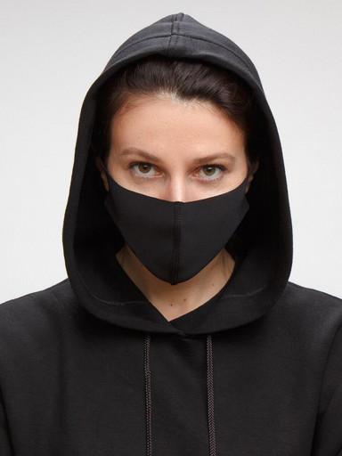 Многоразовая чёрная маска неопреновая