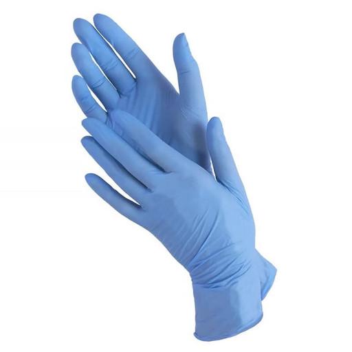Набор нитриловых голубых перчаток (от 10 шт.)