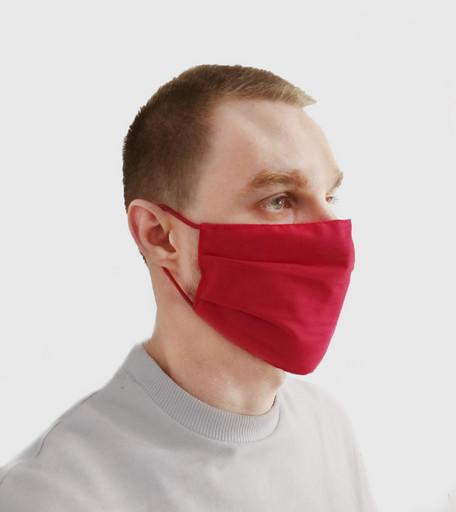 Многоразовая красная маска из хлопка