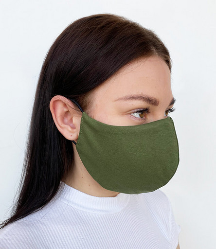 Двухслойная тёмно-зелёная маска