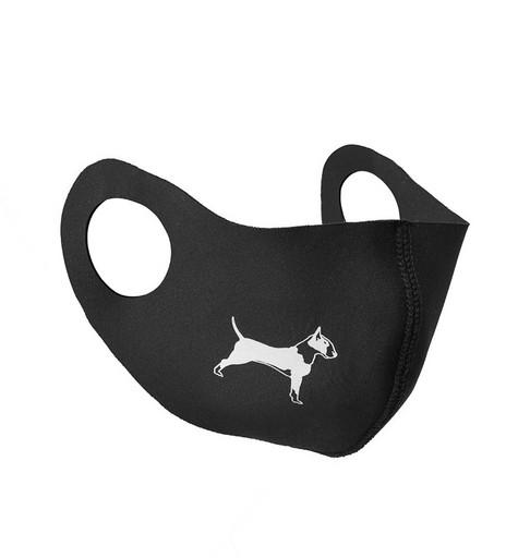 Чёрная маска неопреновая (с собакой)