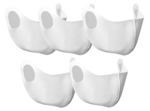 Набор белых масок из неопрена (5 шт.)
