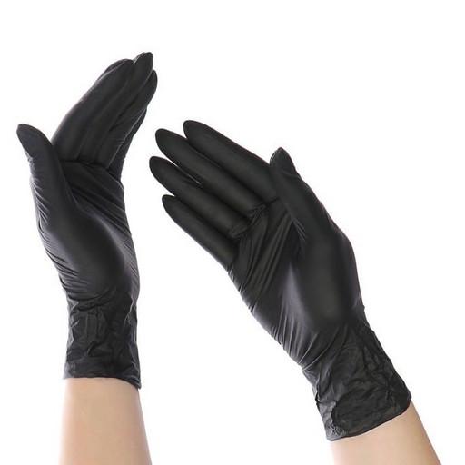 Набор нитриловых чёрных перчаток (от 10 шт.)
