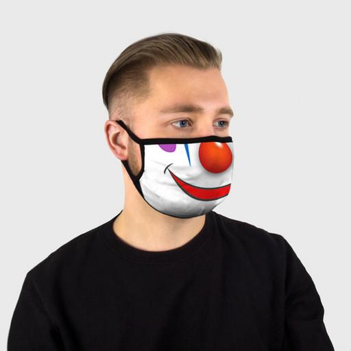 "Маска тканевая с рисунком ""Сlown"""