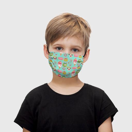 """Детская маска тканевая """"Монстрики"""""""