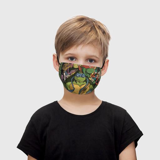 """Детская маска тканевая """"Черепашка Леонардо"""""""