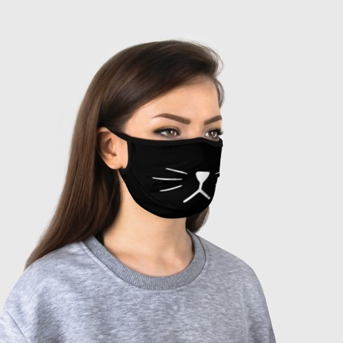 "Многоразовая тканевая маска ""Black Cat"""