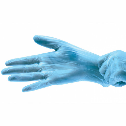 Перчатки виниловые голубые одноразовые 100 шт. (50 пар)