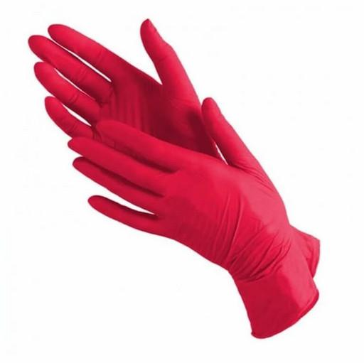 Набор нитриловых красных перчаток (от 10 шт.)