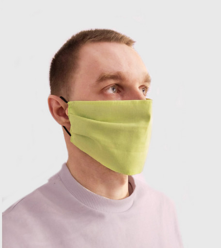 Многоразовая салатовая маска из хлопка
