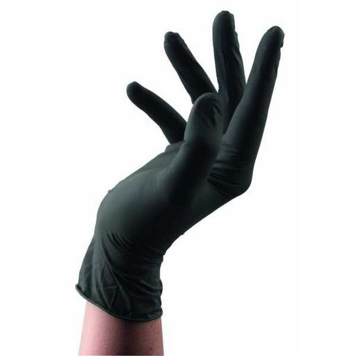 Перчатки латексные чёрные одноразовые (от 10 шт.)