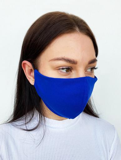 Многоразовая синяя маска из футера