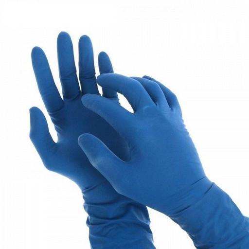 Перчатки латексные синие одноразовые (от 10 шт.)
