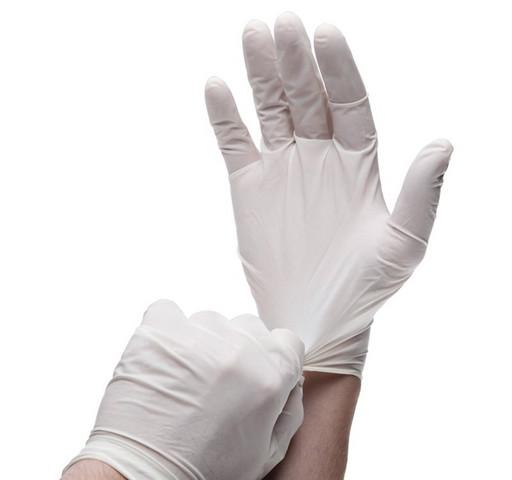 Набор нитриловых белых перчаток