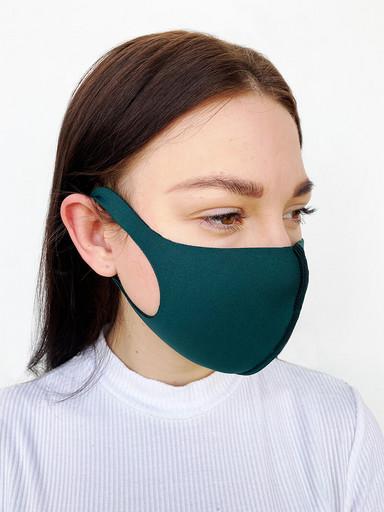 Зеленая неопреновая маска